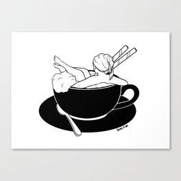 Cappuccino Bath Canvas Print