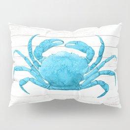 Nautical Blue Crab Driftwood Dock Pillow Sham