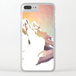 Golden Mountains Design Clear iPhone Case