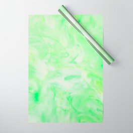 Neon Green Marble Wrapping Paper
