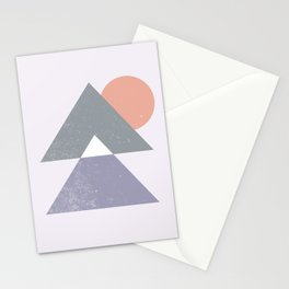 Mountain Peaks Sunset Stationery Cards