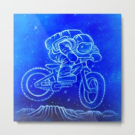 Astronaut Bicycle 2 Metal Print