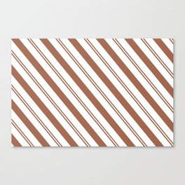 Sherwin Williams Cavern Clay Stripes Thick and Thin Angled Lines Canvas Print