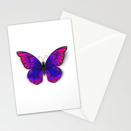 Tricolored Butterfly Stationery Cards