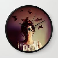 lady gaga Wall Clocks featuring Hush by elle moss