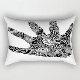Clashing Hand  Rectangular Pillow