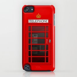 RED TELEPHONE BOX BOOTH PHONE BOX iPhone Case