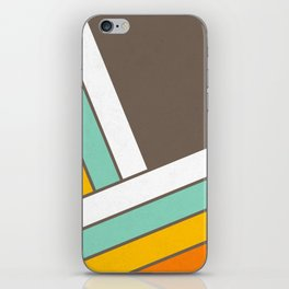 Retro 70s Stripes  -  Abstract Geometric Design iPhone Skin