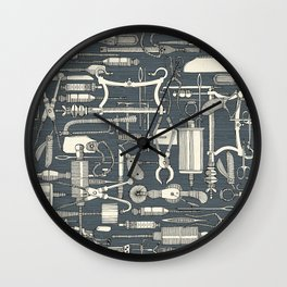 fiendish incisions metal Wall Clock