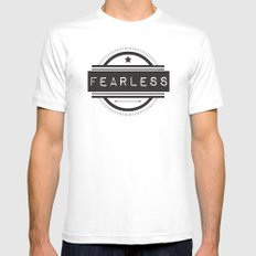 #Fearless Mens Fitted Tee White MEDIUM