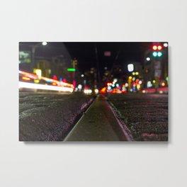 Spadina street car tracks  Metal Print