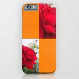 Red Rose Edges Blank Q8F0 iPhone Case