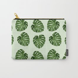 Palm Leaves, Leaf Pattern - Green Carry-All Pouch