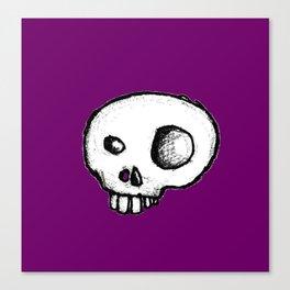 Purple King of Skulls Canvas Print