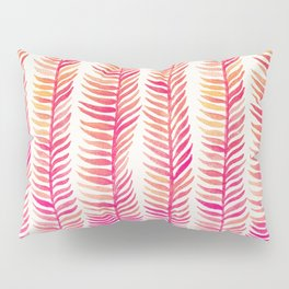 Pink Ombré Seaweed Pillow Sham