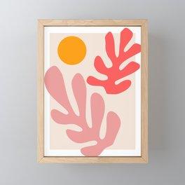 Henri Matisse - Leaves - Blush Framed Mini Art Print