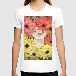 Flower Garden Girl T-shirt