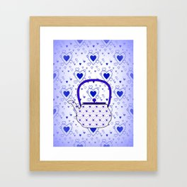 Blue Teapot Framed Art Print