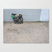 brompton Canvas Prints featuring Brompton Folding Bike by Seth W.