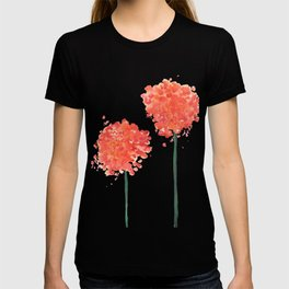 2 abstract geranium flowers T-shirt