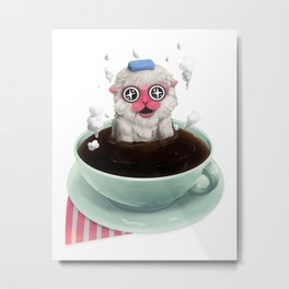 Calming Brew Metal Print