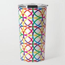 Rainbow Circles Pattern Travel Mug