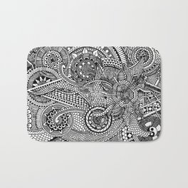 Abstract Fullpage Doodle Bath Mat