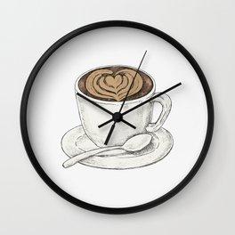 Cute Cappuccino Wall Clock
