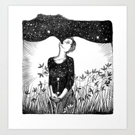 Full of Stars Art Print