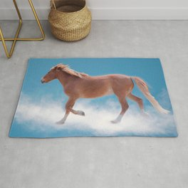Walking on clouds over the blue sky - version #decor #society6 #buyart Rug
