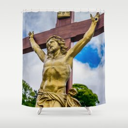 Crucifixion of Jesus Shower Curtain