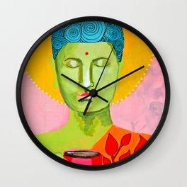 Even the Buddha needs a cuppa 2 Wall Clock