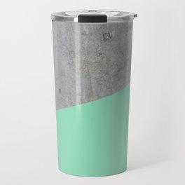 Concrete and Sea Color Travel Mug