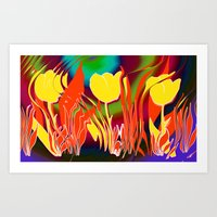 tulip Art Prints featuring Tulip  by LoRo  Art & Pictures