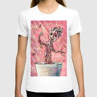 groot T-shirts featuring Lil' Groot by MSG Imaging