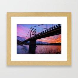 Arkansas Golden Gate Bridge Under Fire Framed Art Print