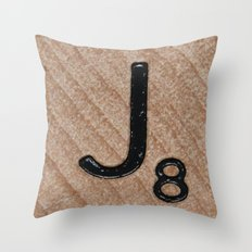 Tile J Throw Pillow