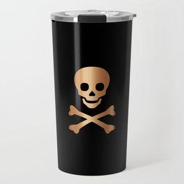 SKULL - BLACK & ROSE GOLD Travel Mug