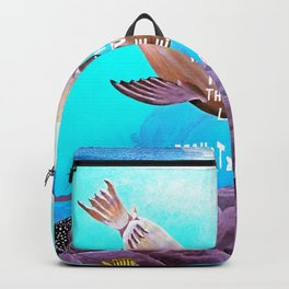 Inspirational Love Quote With Sea Lions Painting Backpack