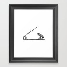 rabbit pin Framed Art Print