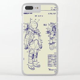 1973 NASA Apollo Astronaut Space Suit Patent Clear iPhone Case