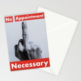 No Appointment Necessary Stationery Cards