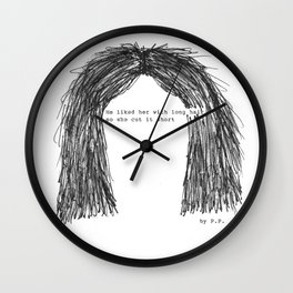 Short hair (famous tumblr quote) by Pien Pouwels Wall Clock