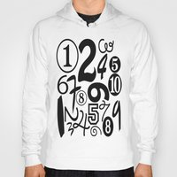 numbers Hoodies featuring Numbers by Sweet Colors Gallery
