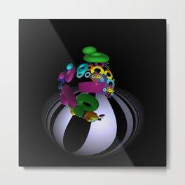 forms colors fisheye Metal Print