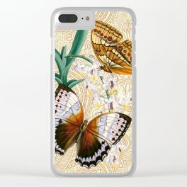 Boho Butterflies Clear iPhone Case