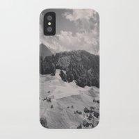 switzerland iPhone & iPod Cases featuring Switzerland BW by Heather Hartley
