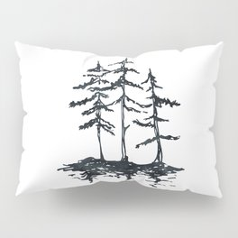THE THREE SISTERS Black and White Pillow Sham