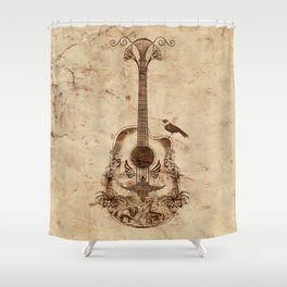 The Guitar's Song Shower Curtain