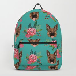German Shepherd florals bouquet dog breed pet friendly pattern dogs Backpack